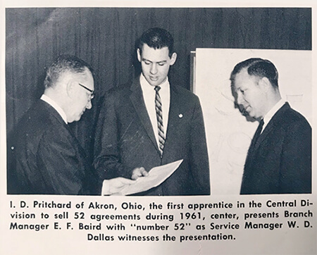 news clipping dean pritchard founder fpos group 1961